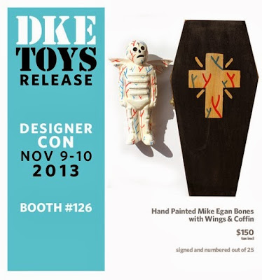 Designer Con 2013 Exclusive Custom Bones with Wings Vinyl Figure by Mike Egan