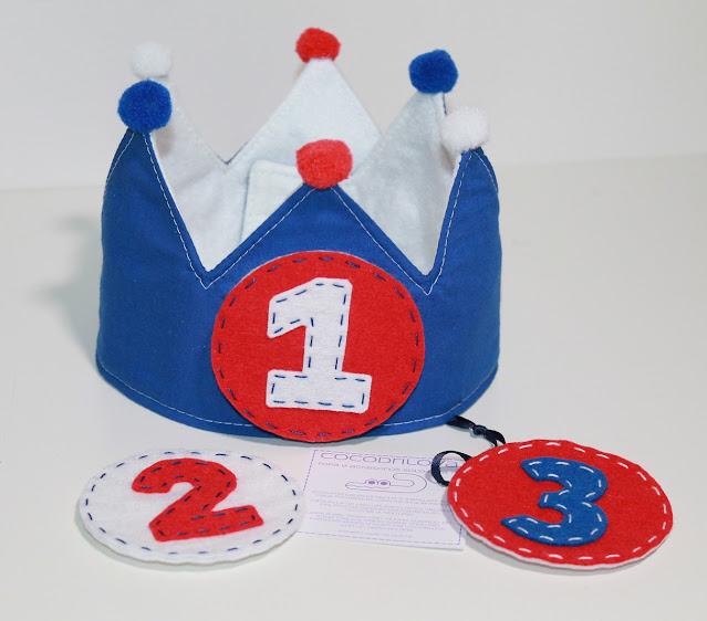 corona de cumpleaños fútbol 1 año