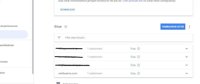 Menambahkan Domain Site Review Adsense