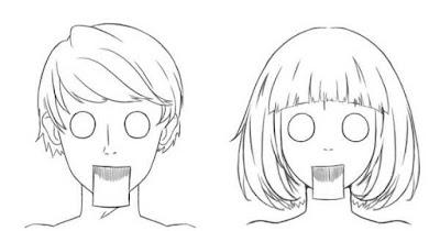 Personnages étonnés avec les yeux exhorbité et la bouche grande ouverte