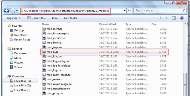 Nostra Technology: Apache httpd + Tomcat (mod_jk connector)