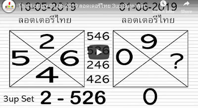 Thai lottery 3up pair VIP formula numbers 01 June 2019