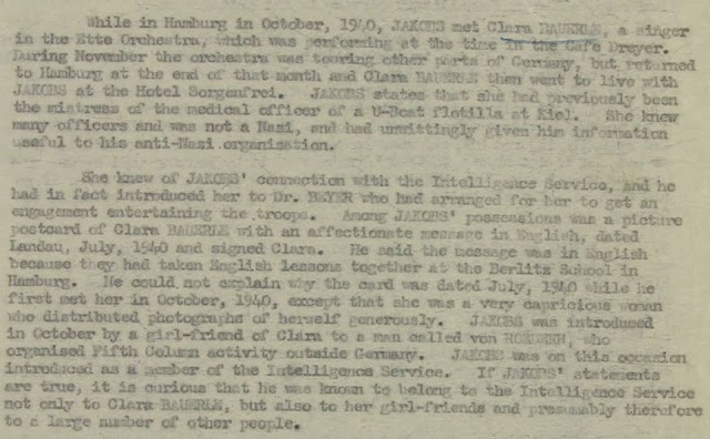 June 25, 1941 - KV 2/25 - 96a - Summary Report on Josef Jakobs written by Lt. Sampson.