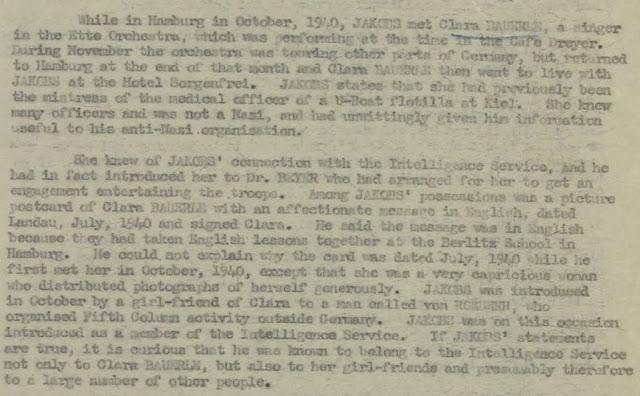 June 25, 1941 - KV 2/25 - 96a - Summary Report on Josef Jakobs written by Lt. Sampson.