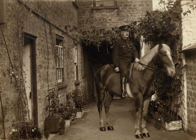 Uniformed Supt. on horse