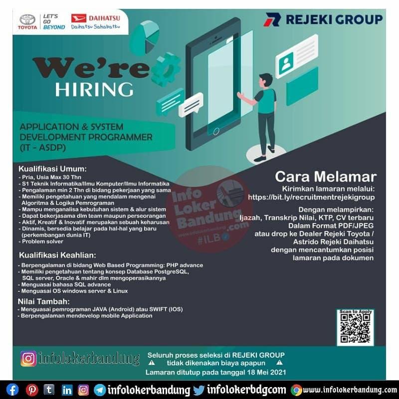 Lowongan Kerja Rejeki Group Dealer Resmi Mobil Toyota & Daihatsu Bandung Mei 2021
