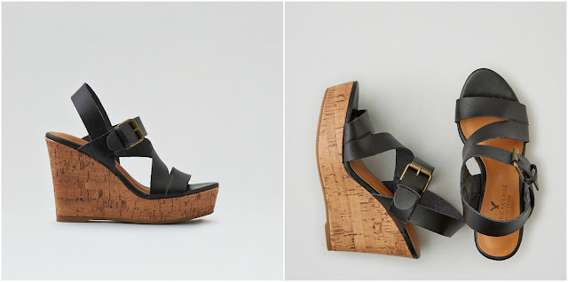 AEO Strappy Wedge Sandal $24 (reg $60)