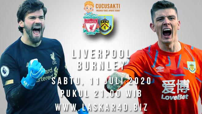 Prediksi Bola Liverpool vs Burnley Sabtu 11 Juli 2020