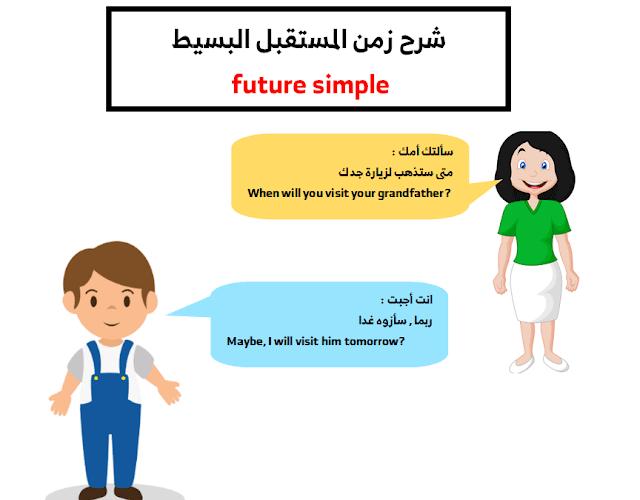 زمن المستقبل البسیط future simple
