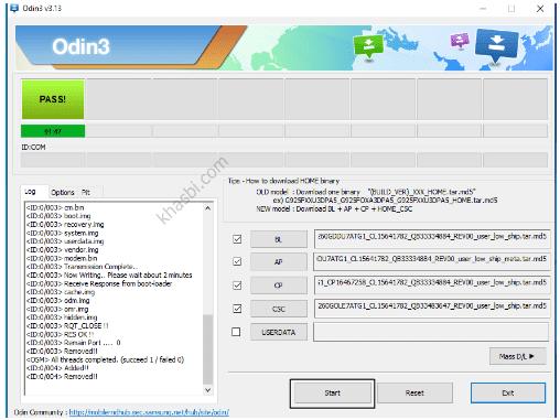 menambahkan file binary samsung a2 core
