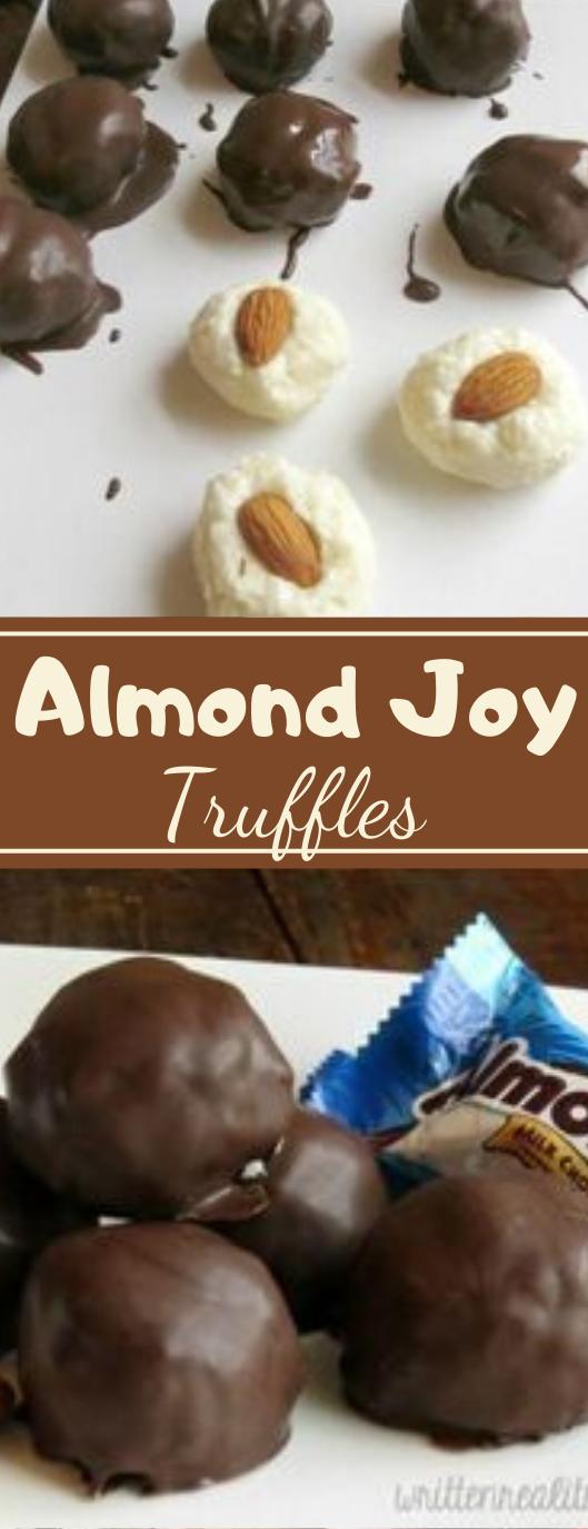 Almond Joy Truffles #desserts #cakes #almond #truffles #cookies