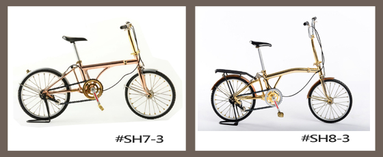 Hand made, model bike, foldable bike, mini foldable bicycle, metal craft