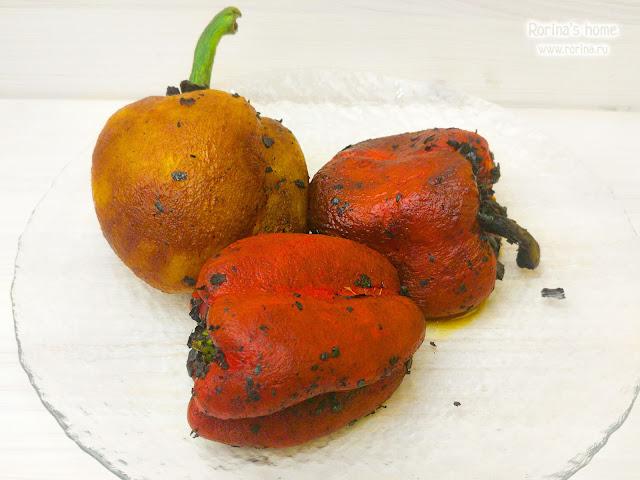 Как запечь болгарский перец целиком?