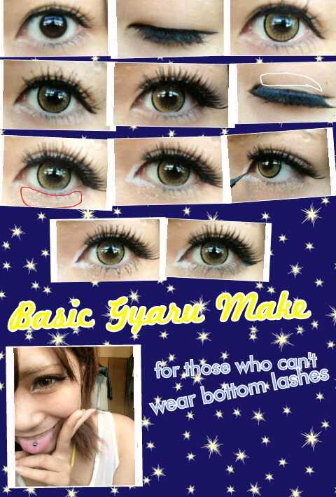 basic gyaru eye makeup