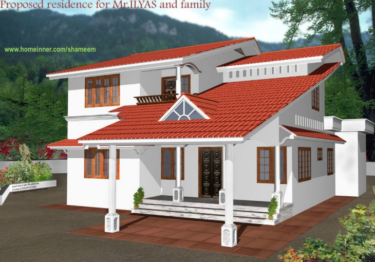 Kerala Style Homes By Shamim 3d Home Exterior
