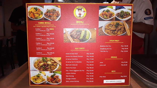 Ai Sarap Express Menu /  Price List