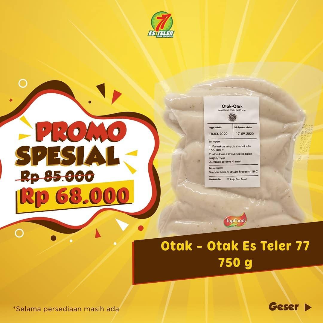 Promo Es Teler 77 Spesial Otak - Otak 750 G Hanya Rp 68.000