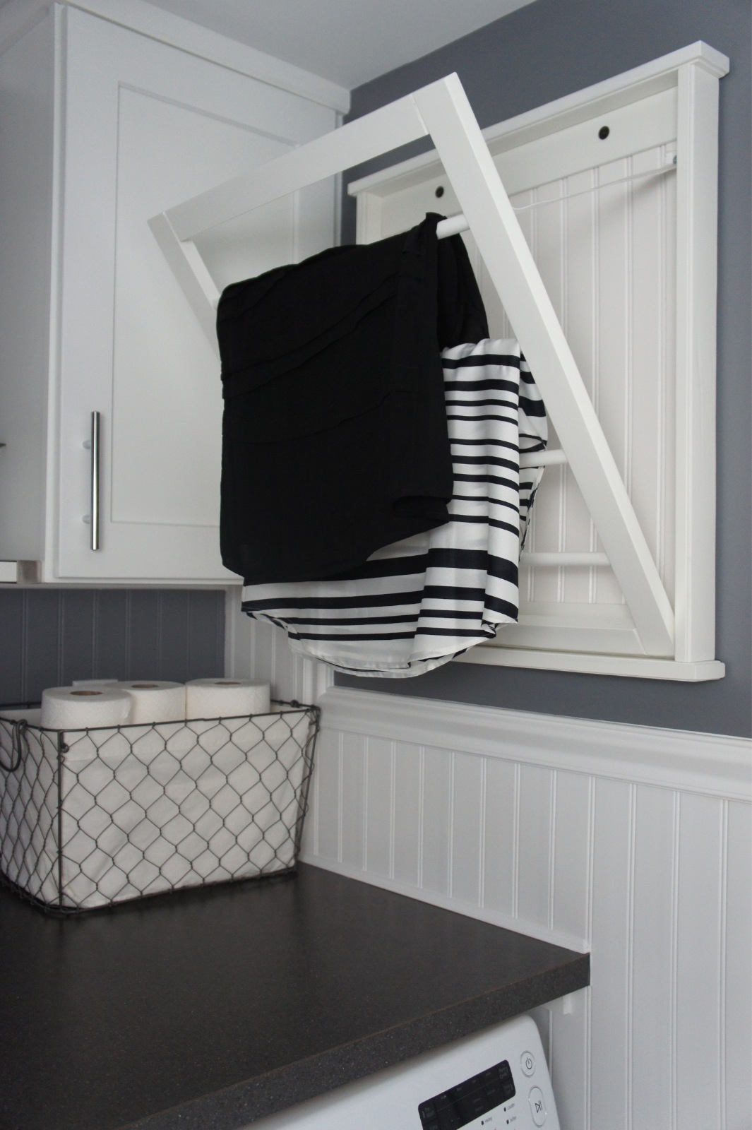 home with baxter house tour week 5 half bath laundry room reveal. Black Bedroom Furniture Sets. Home Design Ideas