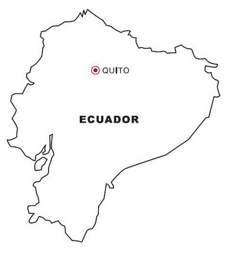 COLOREA TUS DIBUJOS: Mapa de Ecuador para colorear