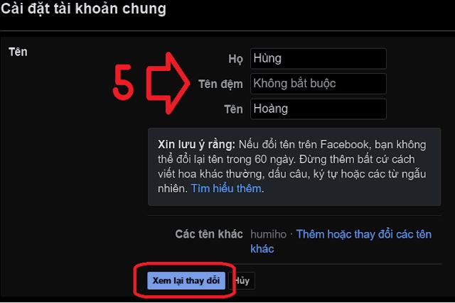 đổi tên đăng nhập Facebook_4