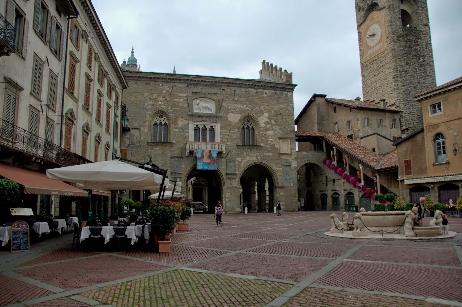 Rynek starego miasta Bergamo