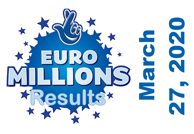 EuroMillions Results for Friday, March 27, 2020