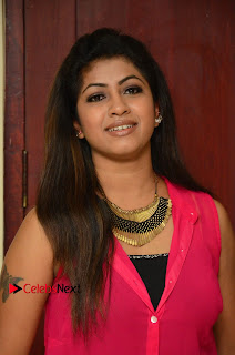 Actress Geethanjali Pictures in Pink Dress at Avanthika Movie Opening 0002