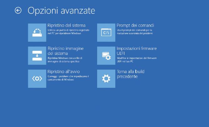 Come fare chiavetta USB ripara Windows 10 schermata avvio e ripristino