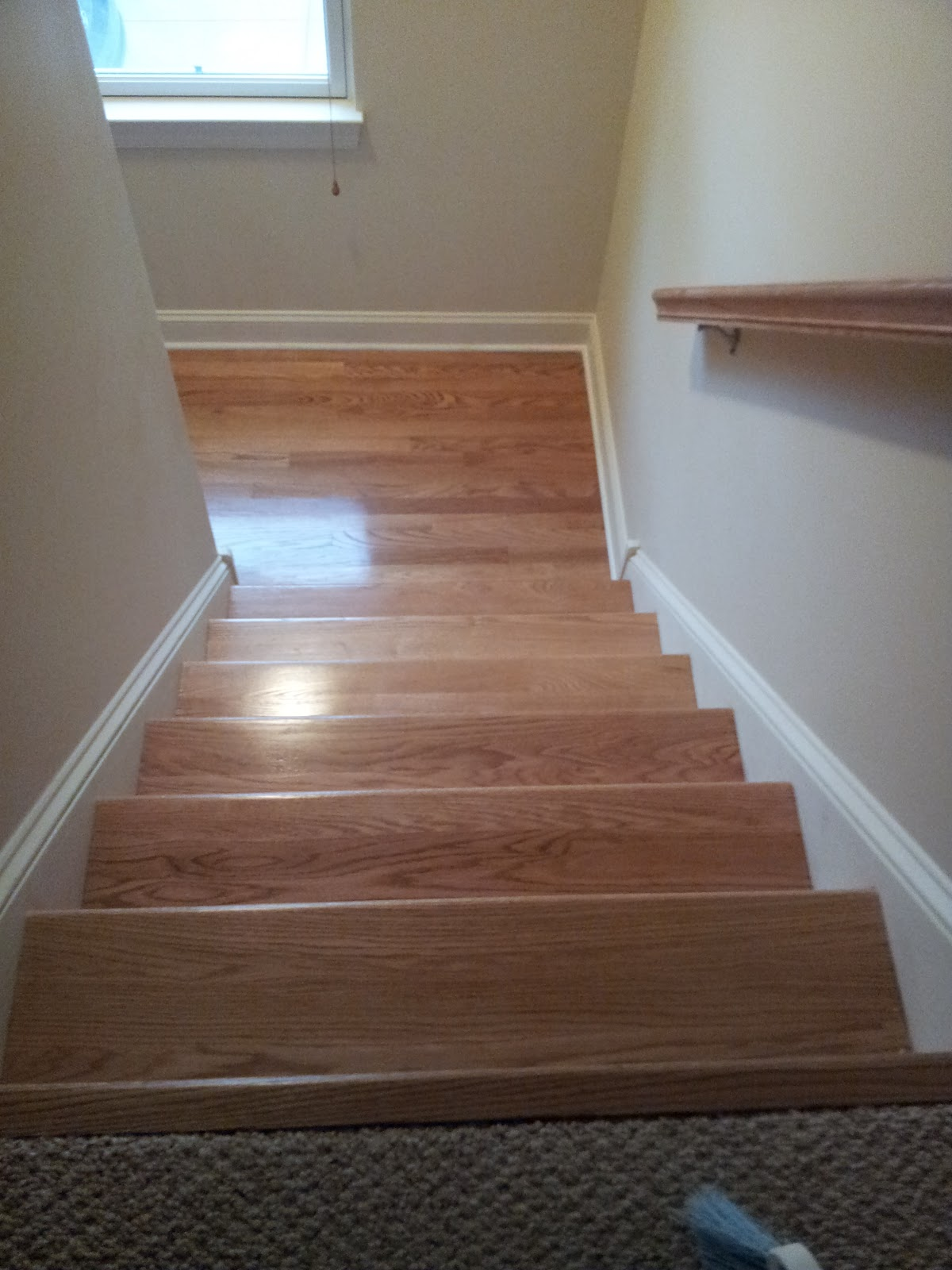 Floor Installation Photos Red Oak Hardwood Stair Refinishing