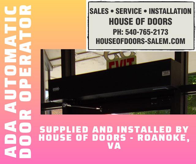 ADA low energy automatic door operators and accessories sold and installed by  House of Doors - Roanoke, VA