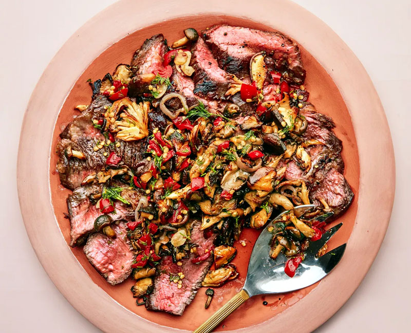 Seared Short Ribs With Mushrooms