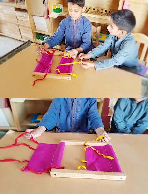Montessori Bow Tying Activity