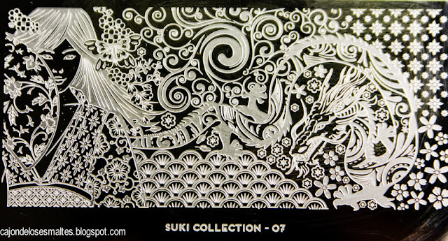 stamping plate Suki Collection 07 - Moyou London