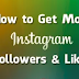 Get Likes Followers Instagram |  How to Get Free Instagram Followers and Likes