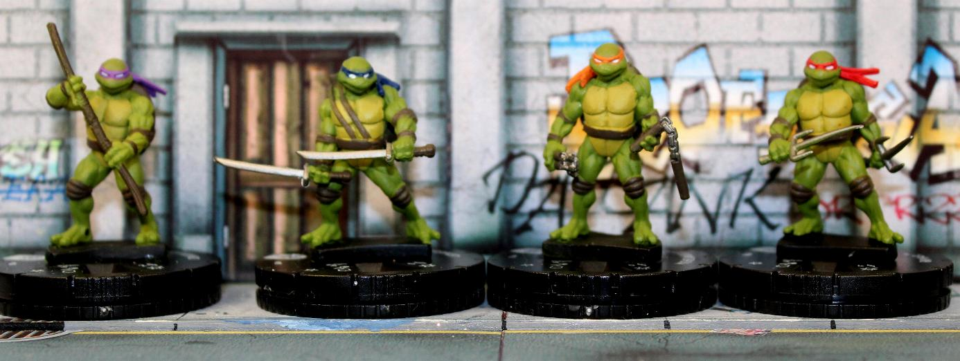 Here they all are arranged in alphabetical order from left to right - Donatello Leonardo Michelangelo and Raphael. The sculpting of these figures is ... & Vampifan\u0027s World of the Undead: Heroclix Teenage Mutant Ninja Turtles