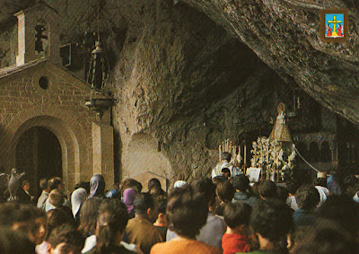 Virgen de Covadonga, postal de Moro