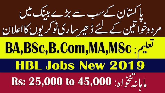 HBL Jobs New 2019 | Habib Bank Limited Jobs For Multiple Cities