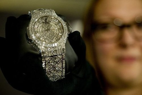 Diamond Encrusted Hublot Watch
