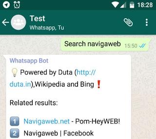 cercare da whatsapp