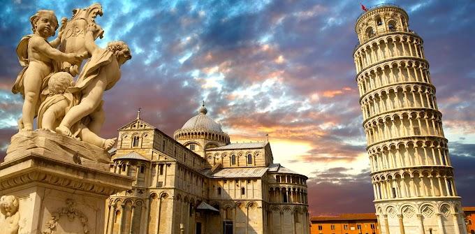 Sabia que a Torre Inclinada de Pisa nunca foi reta?