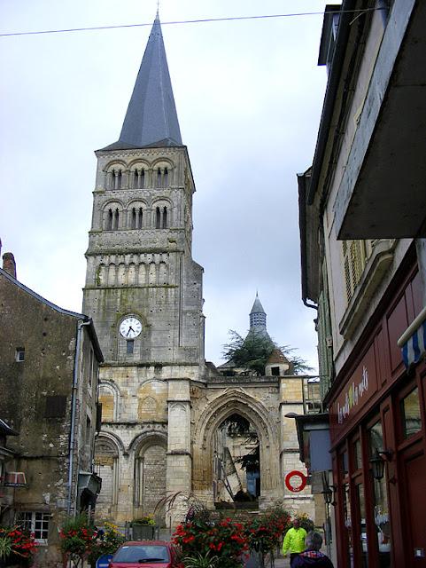 Priory church entrance, La Charite sur Loire, Nievre, France. Photo by Loire Valley Time Travel.