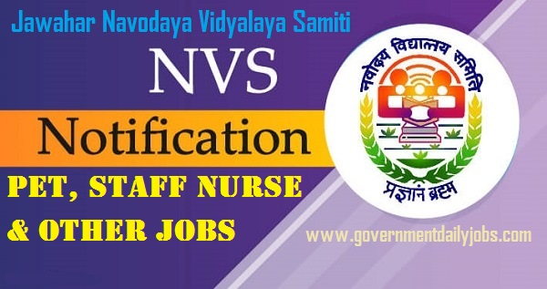NVS Pune PET Jobs 2020