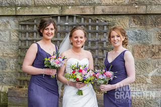 Bride with her bridesmaids at a Scottish Wedding