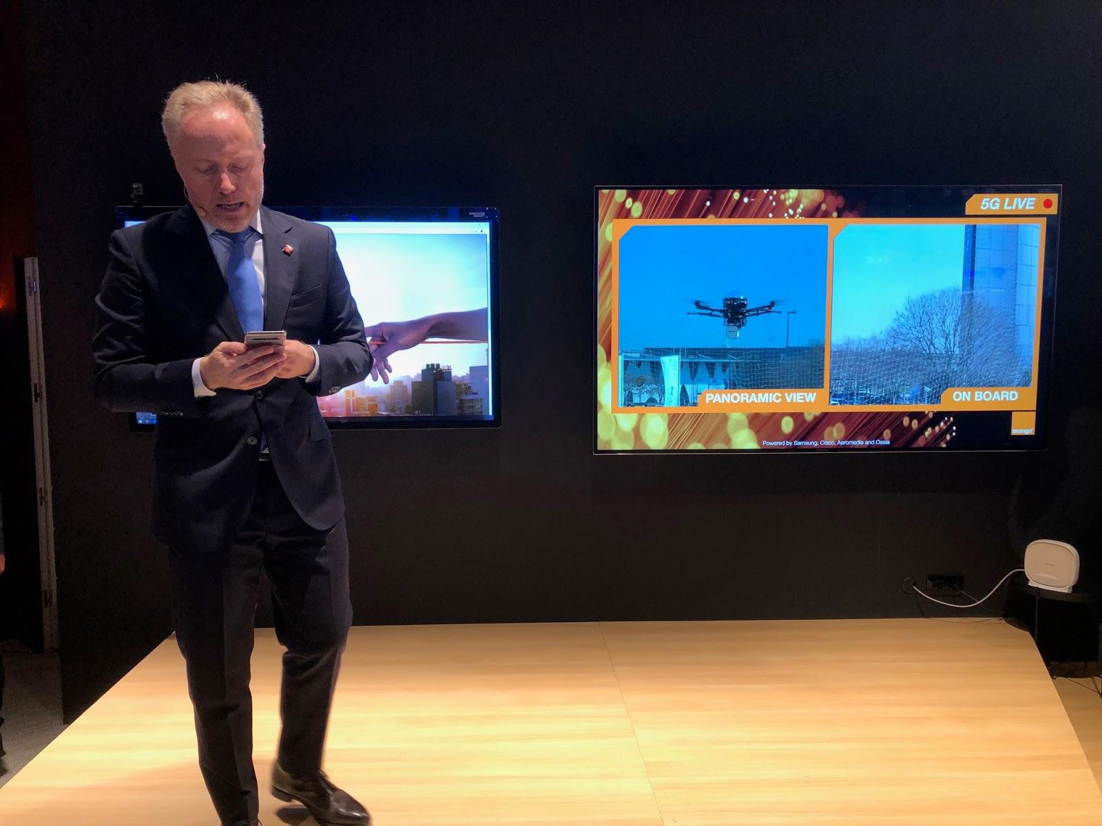 dron orange 5G