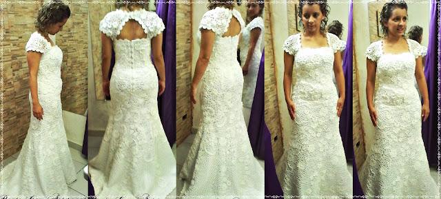Vestido de Noiva Sereia em Crochê Irlandês