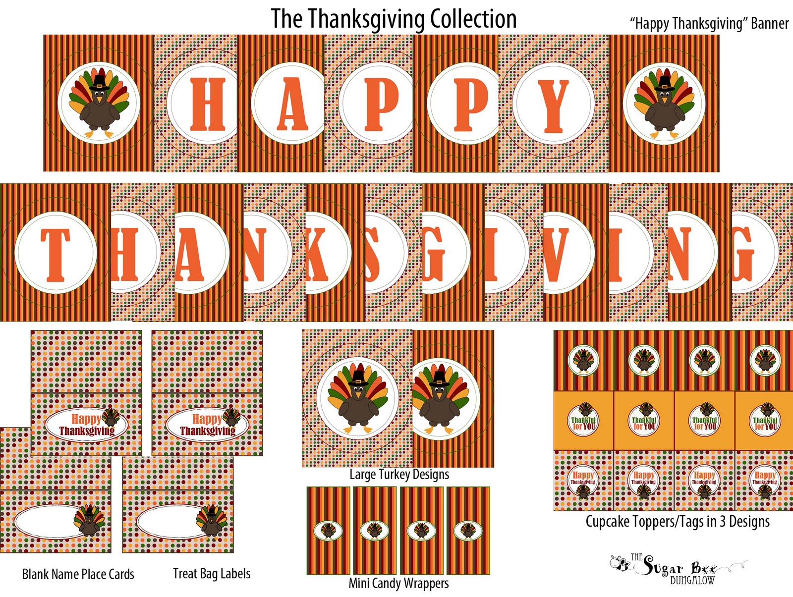 It is a photo of Gutsy Thanksgiving Banner Printable