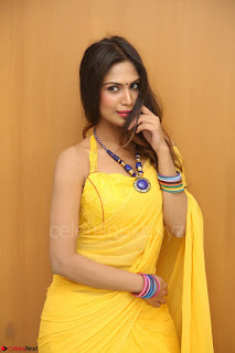 Nishigandha in Yellow backless Strapless Choli and Half Saree Spicy Pics 162.JPG