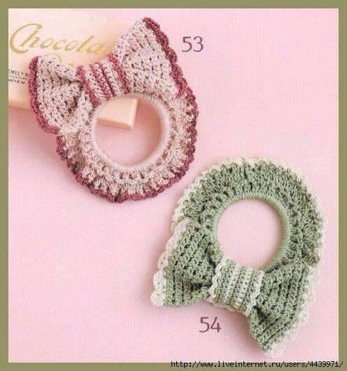 Moña con lazos a Crochet