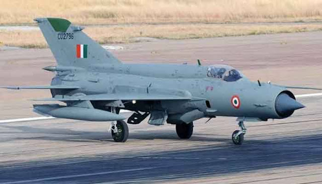 The MiG-21 aircraft of the Indian Air Force has crashed and during this accident, group captain A. Gupta has been martyred.