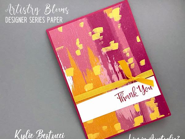 #loveitchopit #simplestamping Artistry Blooms Designer Series Paper Cards